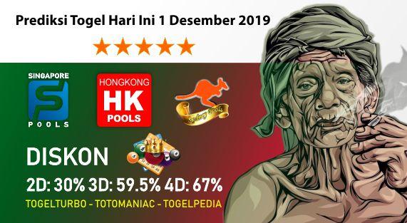 Prediksi Togel Hari Ini 01 November 2019