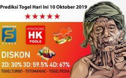 Prediksi Togel Hari Ini 10 Oktober 2019