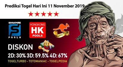 Prediksi Togel Hari Ini 11 November 2019