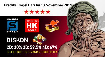 Prediksi Togel Hari Ini 13 November 2019