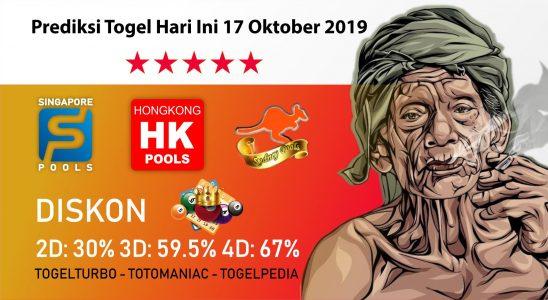 Prediksi Togel Hari Ini 17 Oktober 2019