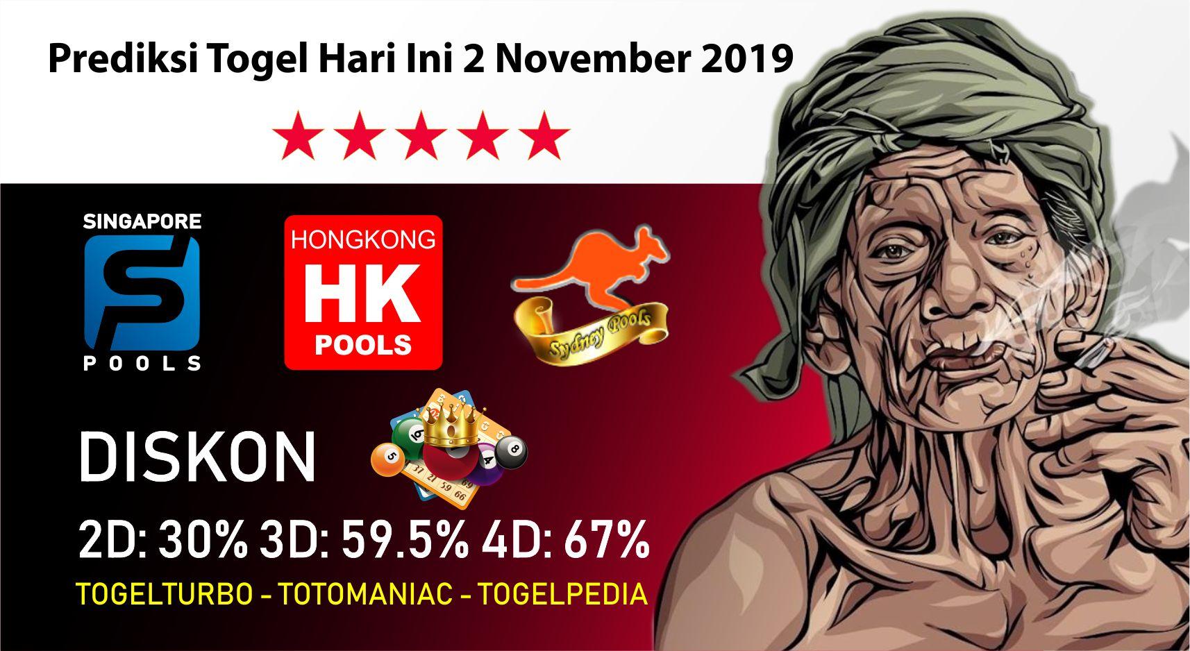 Prediksi Togel Hari Ini 2 November 2019 Prediksiangka