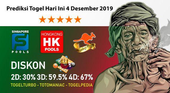 Prediksi Togel Hari Ini 04 November 2019