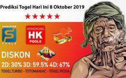 Prediksi Togel Hari Ini 8 Oktober 2019