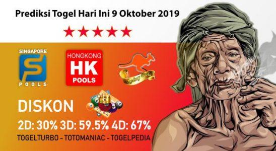 Prediksi Togel Hari Ini 9 Oktober 2019