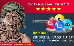 Prediksi Togel Hari ini 02 April 2021
