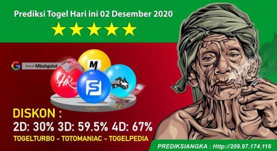 Prediksi Togel Hari ini 02 Desember 2020