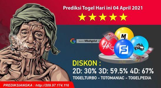Prediksi Togel Hari ini 04 April 2021
