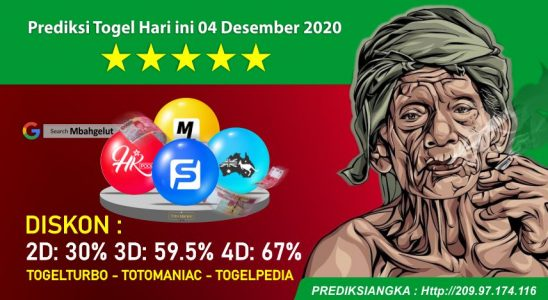 Prediksi Togel Hari ini 04 Desember 2020