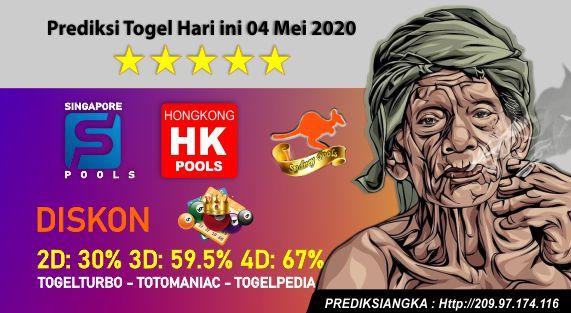 Prediksi Togel Hari ini 04 Mei 2020