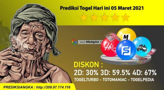 Prediksi Togel Hari ini 05 Maret 2021