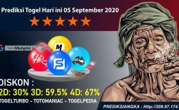 Prediksi Togel Hari ini 05 September 2020