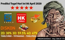 Prediksi Togel Hari ini 06 April 2020