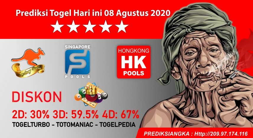 Prediksi Togel Hari ini 08 Agustus 2020
