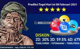Prediksi Togel Hari ini 08 Februari 2021