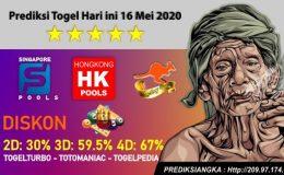 Prediksi Togel Hari ini 16 Mei 2020