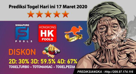 Prediksi Togel Hari ini 17 Maret 2020