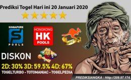 Prediksi Togel Hari ini 20 Januari 2020