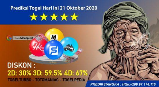Prediksi Togel Hari ini 21 Oktober 2020