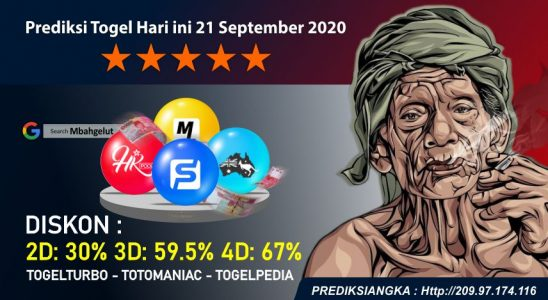 Prediksi Togel Hari ini 21 September 2020