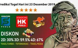 Prediksi Togel Hari ini 23 Desember 2019