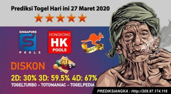 Prediksi Togel Hari Ini 27 Maret 2020