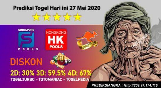 Prediksi Togel Hari ini 27 Mei 2020