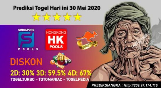 Prediksi Togel Hari ini 30 Mei 2020