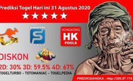 Prediksi Togel Hari ini 31 Agustus 2020
