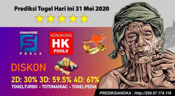 Prediksi Togel Hari ini 31 Mei 2020